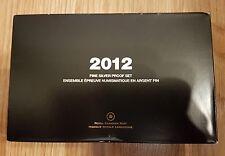 2012 CANADA FINE SILVER PREMIUM PROOF SET W/ 200th ANN WAR OF 1812 SILVER DOLLAR