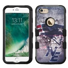 for iPhone 8 Rugged Rubber+Hard Hybrid Case New England Patriots #M