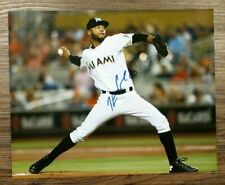 Kendry Flores Marlins Signed Autograph 8x10 Picture Photo Authentic MLB Baseball