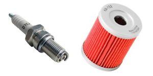 Oil Filter & NGK Spark Plug Tune Up Kit For 87-93 Suzuki QuadRunner LT 230 230E