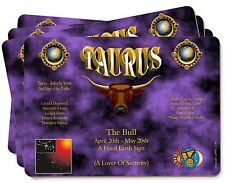 Taurus Star Sign Birthday Gift Picture Placemats in Gift Box, ZOD-2P