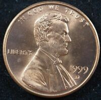 1999 D Lincoln Memorial Cent Penny (BU) Brilliant Uncirculated US Coin