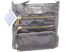 Nwt $168 Adrienne Vittadini Black Multi-Zip Nylon Cross-Body Bag