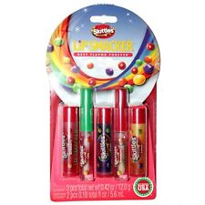 LIP SMACKER* 5pc Set SKITTLES Balm+Gloss CANDY FAVORITES COLLECTION Carded NEW