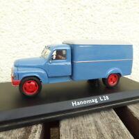 Schuco 1:43 Échelle 0 Hanomag L 28 Camion Fourgonette Bleu neuwertig IN Ovp