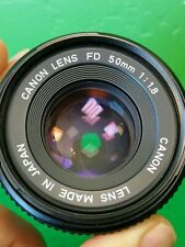 Canon Lens FD 50mm 1:1.8 - Made in Japan