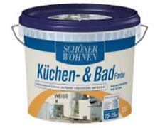 Küchen- und Badfarbe weiß matt 1 L schöner Wohnen