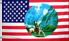 USA RIDING INDIAN  SHADOW  3'x5' POLY FLAG
