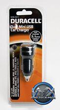 New Duracell Fast Charging Dual Mini 2 USB Port 3.1 amp Car Charger (DU6117)