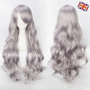 Women Girl Long Hair Wig Straight Curly Wavy Anime Cosplay Fancy Party Full Wigs
