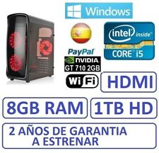 PC Ordenador Sobremesa i5 GAMER 8GB / 1 TB HD / GT710 2GB / WIFI / WINDOWS
