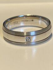9ct White Gold Diamond Wedding Band Size S RRP£399
