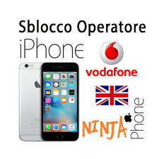SERVICE SBLOCCO OPERATORE UNLOCK IPHONE UP TO 6S+ vodafone uk inghilterra