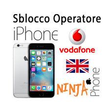 SERVICE SBLOCCO OPERATORE UNLOCK  CLEAN IPHONE  vodafone UK CHEAP SLOW SERVICE
