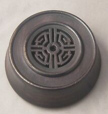 """3.75"""" Dark Brown Chinese Oriental Wooden Lid Cap Cover for Ginger Jar and Vases"""