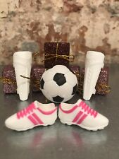 Barbie 60th Career Football Doll Kit Only-Football Boots& Shin Pads& Football-UK