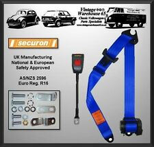 Ford Cortina Mk2 Estate 1969 70 Blue 3 Point Automatic Front Seat Belt Kit