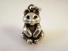 .925 Sterling Silver 3-D Heavy PANDA Bear CHARM Bracelet Pendant NEW 925 AN02