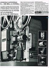 PUBLICITE ADVERTISING  1963   BELL & HOWELL   projecteur automatique 266