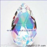 6Pcs 50mm cut Teardrop AB Crystal Glass Beads Pendants Jewellery Making DIY