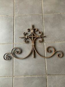 Antique French Wrought Iron Panel Railing Balustrade Section