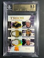 2017-18 The Cup Trios Jerseys Fleury Neal Marchessault GOLD 03/10 BGS 9.5