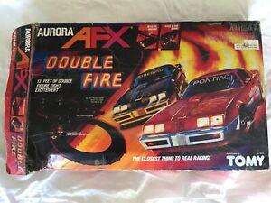 AFX Aurora Double Fire Slot Car Set Vintage Firebird
