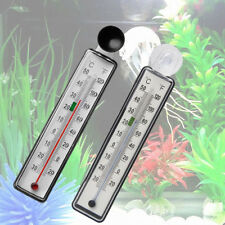 Durable Aquarium Fish Tank Thermometer Glass Meter Water Temperature Suction Cup