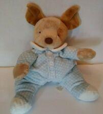 "Blue Dog Dot Sleeper Rattle Pajamas Soft Toy Lovey North American 2003 NABCO 12"""