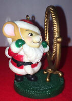 Vintage AVON Keepsake Ornament 1982 Melvin P Merrymouse Christmas Mirror Mouse