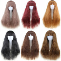 LN_ EG_ 65cm Women Long Curly Wavy Hair Full Wig Costume Party Anime Cosplay S