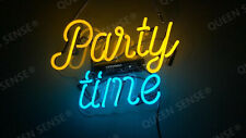 """New Party Time Acrylic Neon Light Sign 14""""x10"""" Room Lamps Homemade Display"""