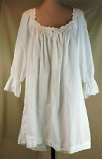Victoria's Secret VTG Country Cottons XL White Prairie Lace Nightgown GOLD LABEL