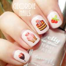 Nail Art Water Decals Sweety Strawberry Cakes Pattern Nail Transfer Stickers