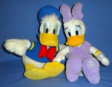 """Disney plush Donald Duck and Daisy Duck 18"""" sweethearts-Mickey Mouse friends LOT"""