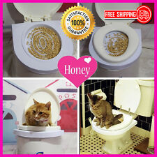 Cat Toilet Mat Training Plastic Easy to Learn Litter Tray Kitten Train -Freeship