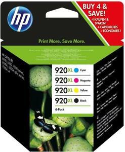 Genuine HP 920XL (C2N92AE ) Ink Cartridges. Black / Cyan / Magenta / Yellow
