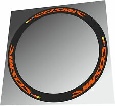 Mavic Cosmic Carbone Orange Color SL-SLR-SLE RIM DECAL SET FOR TWO Felgen