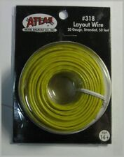 Atlas #318 Yellow 1 Conductor Layout Wire 50 feet 20 gauge stranded * All Scales