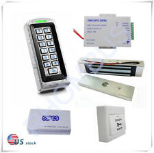 RFID Metal Access Controller+Power Supply+Exit Button+180KGs Magnetic Lock+cards
