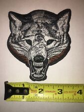 "US SELLER!! TIMBERWOLF IRON-ON PATCH ~ SNARLING WOLF ~ 3.0/"" x 4.0/"" ~ BRAND NEW"