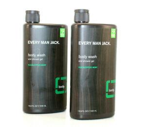 2x Every Man Jack Body Wash, Eucalyptus Mint 16.9-ounce