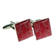 X2Na3868 - Pink Pink Roses Design Cufflinks