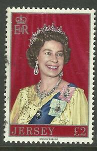 JERSEY 1977 £2 QUEEN ELIZABETH II DEFINITIVE STAMP Fine Used (No.1)
