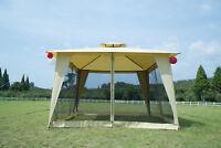 12x12 Outdoor Patio Metal Gazebo Garden 2-tier Yard Canopy Party Tent W/ Netting