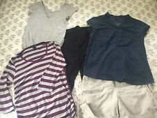 H & M Maternity Clothes Bundle Size 12 - 5 Items (3 Tops, Shorts And Leggings)