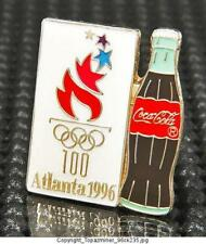 Olympic Pins 1996 Atlanta Georgia Usa Coke Sponsor Bottle & Logo Design