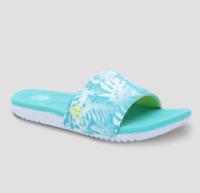 C9 Champion Women's Whitley Leaf Print Slide Slip-On Sandals, Turquoise