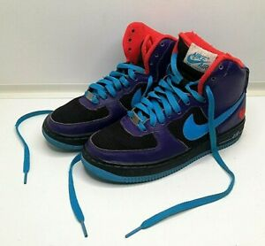 NIKE ID AIR FORCE 1 HIGH TOP WOMENS MULTICOLOURED TRAINERS SIZE UK 4.5 EUR 37.5