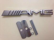 New Emblem Badge AMG Metal Front Grille Grill Sticker Car Logo For Mercedes-Benz